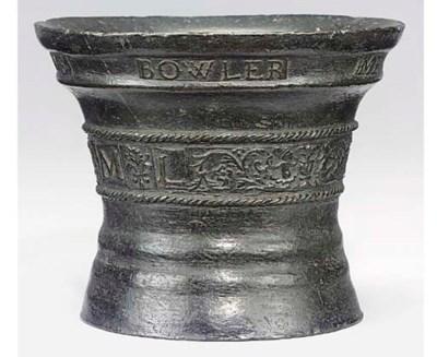An Elizabethan bronze mortar