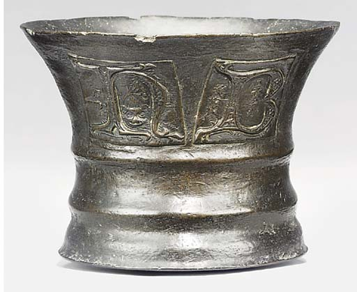 A Charles II bronze mortar