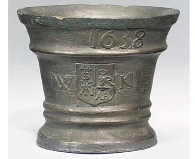 A Charles I bronze mortar