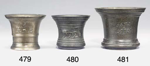 A George I bronze mortar