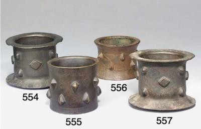 A Khorassan bronze mortar