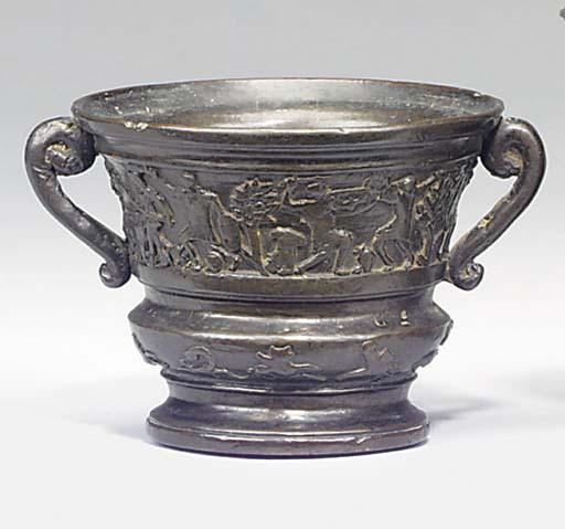 A Venetian bronze mortar