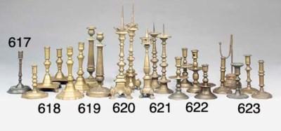 A Nuremberg brass candlestick
