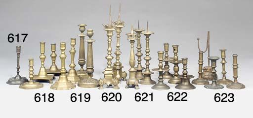 A Netherlandish brass candlest