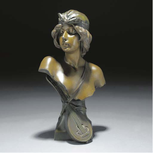 'Sophia' a green patinated spe