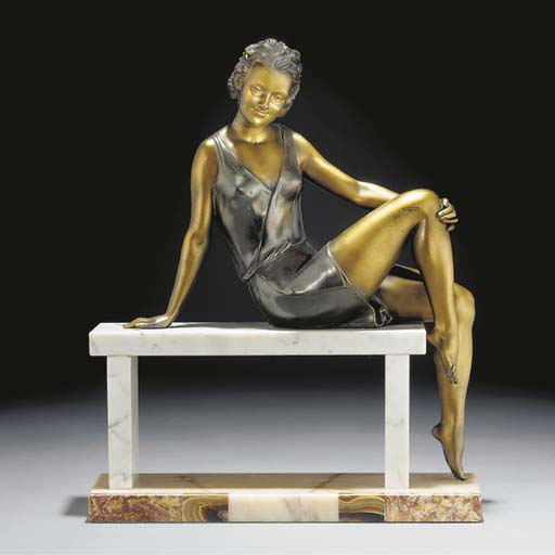 A cold-painted spelter figure