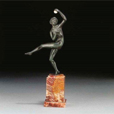 'Dancer with Ball' a green pat