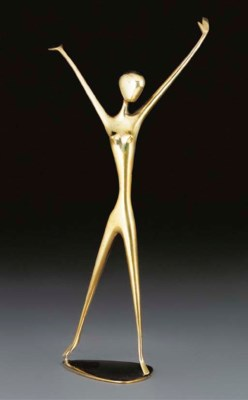 A Hagenauer brass figure