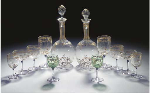 A French glass table-service