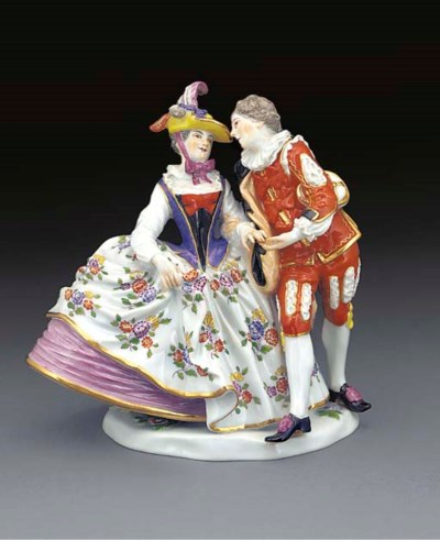 A Meissen group of the Spanish
