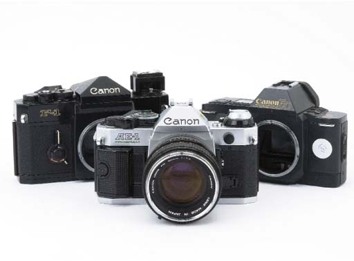 Canon cameras and lenses