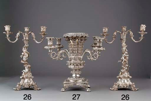 An Old Sheffield Plate Epergne