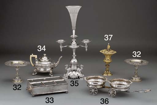 Two Parcel-Gilt Silver-Plated