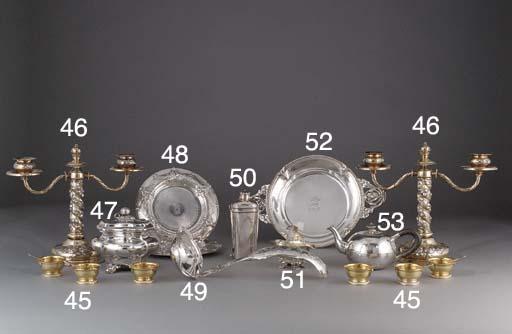 A German Silver Regimental Tea