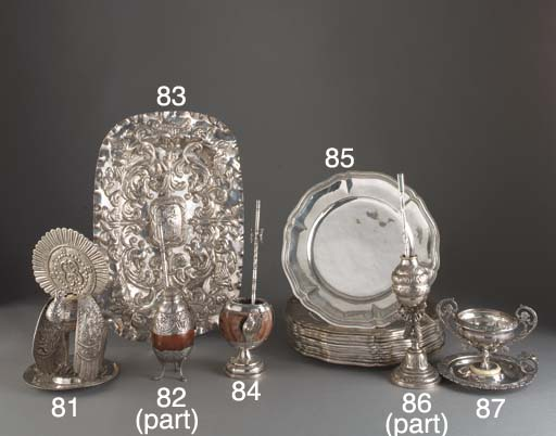 A Spanish Colonial Silver Dish