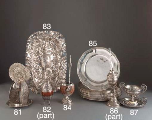 Four Various Silver Maté Cups