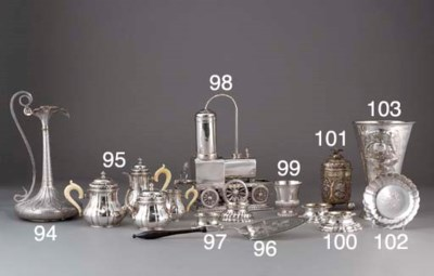 An Indian Parcel-Gilt Silver E