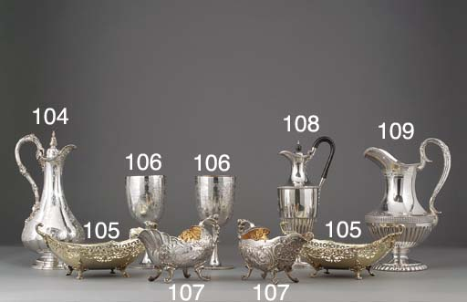A Pair of Edwardian Silver-Gil