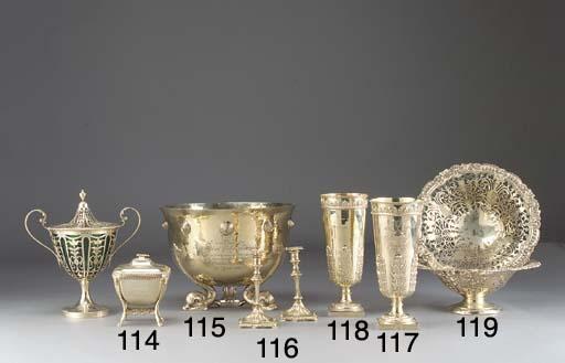 An Edwardian Silver-Gilt Vase