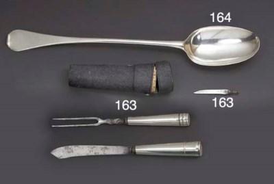 A Cased 17th Century Silver-Mo