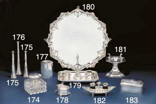 A George V Silver Cannister