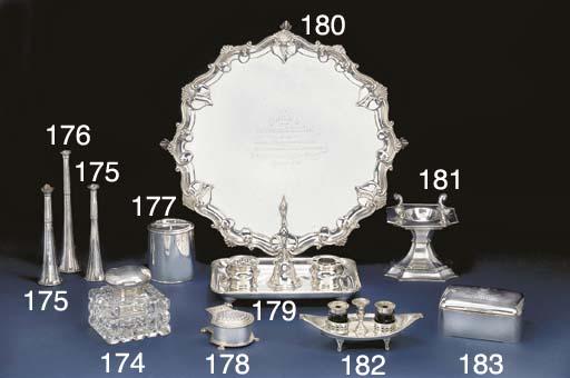 An Edwardian Silver Inkstand