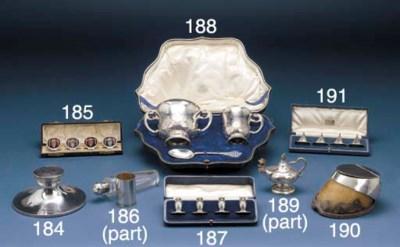 A Set of Four Edwardian Silver