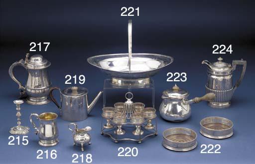 A George III Silver Brandy Sau
