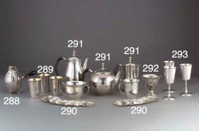 A Four-Piece Danish Silver Tea