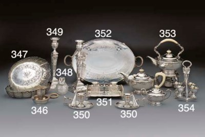 A Victorian Silver Gallery Tra