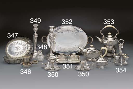 A Three-Piece George V Silver