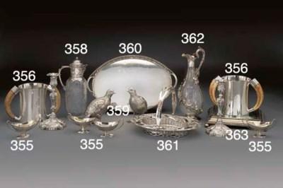 A Victorian Silver-Gilt Mirror