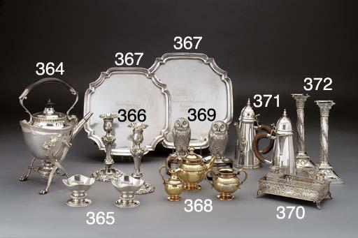 A Three-Piece Victorian Silver