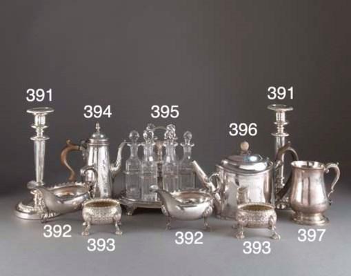 A George III Silver Cruet Stan