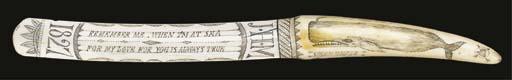 A 19TH CENTURY SCRIMSHAW-DECOR