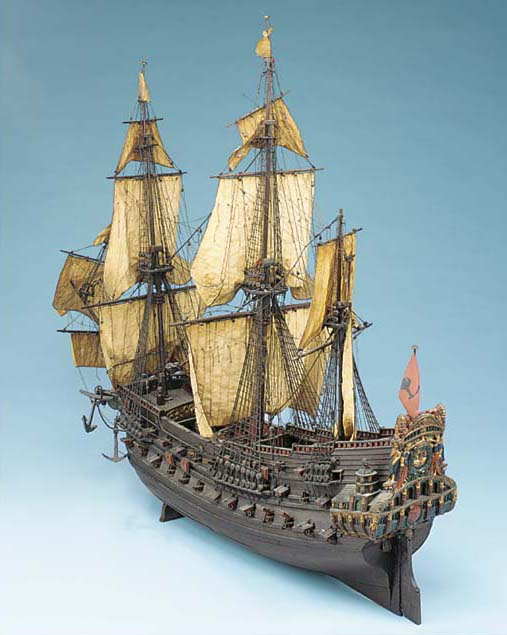 An unusual fully-rigged model