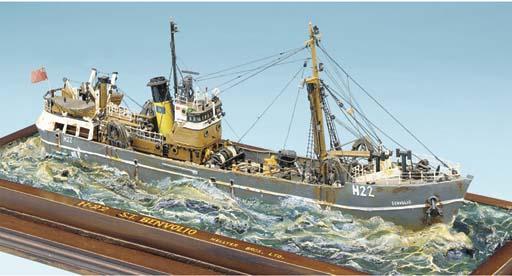 A sailor's waterline model of