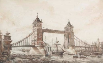 LONDON, Tower Bridge. A collec