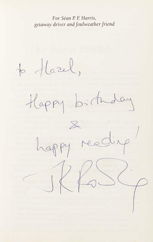 ROWLING, J. K. (b.1965).  Harr