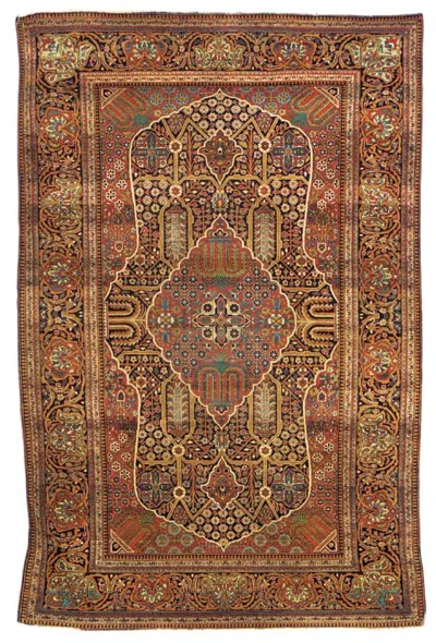 A very fine Kurk Kashan rug, C