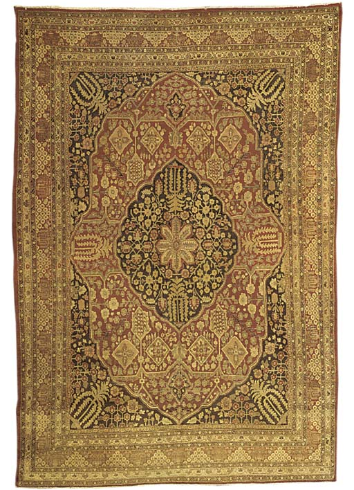 An antique Tabriz carpet, Nort