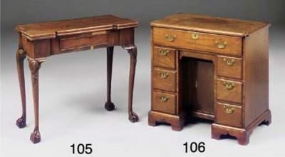 A George II mahogany kneehole