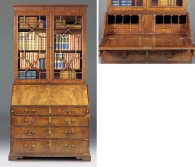 A George III mahogany bureau b