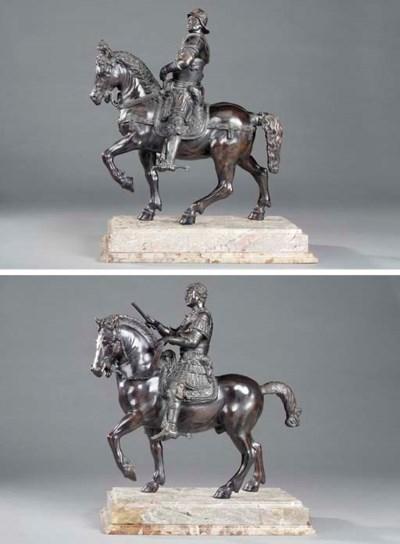 Two Italian bronze models of e