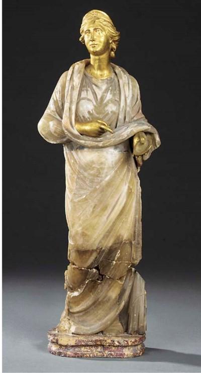 A gilt bronze and onyx model o