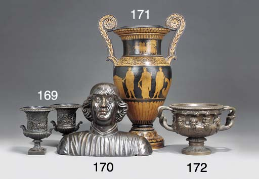 A large terracotta vase