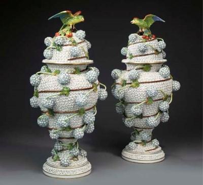 A large pair of German porcela