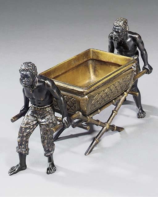 An Austrian cold painted bronz