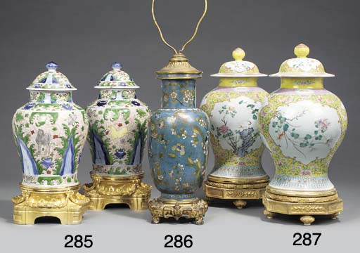 A pair of Chinese porcelain va