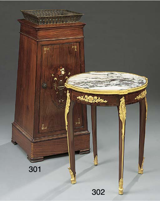 A French kingwood low table